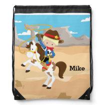 Cowboy Drawstring Bag