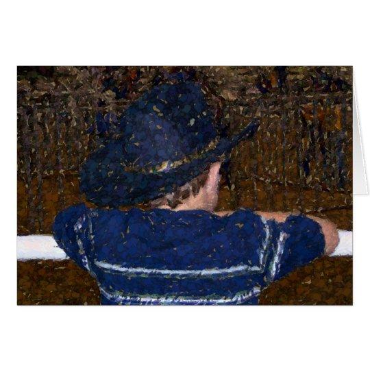 cowboy dreaming art card