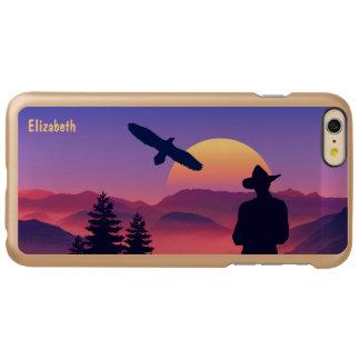 Cowboy Eagle And Rising Sun Wild West Incipio Feather® Shine iPhone 6 Plus Case