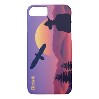 Cowboy Eagle And Rising Sun Wild West iPhone 7 Case