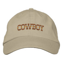 Cowboy Embroidered Baseball Hat