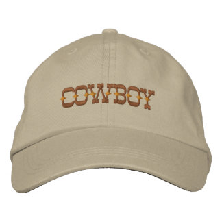 Cowboy Embroidered Baseball Hat