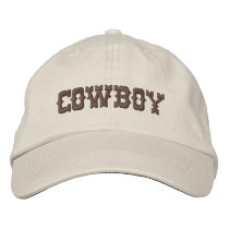 Cowboy Embroidered Hat
