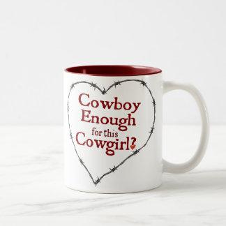 Cowboy Enough Two-Tone Mug
