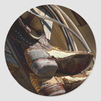 Cowboy Essentials - Boots and Ropes Classic Round Sticker