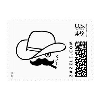 Cowboy face stamp