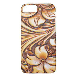 Cowboy Fashion Western Country Tooled Leather iPhone 8/7 Case