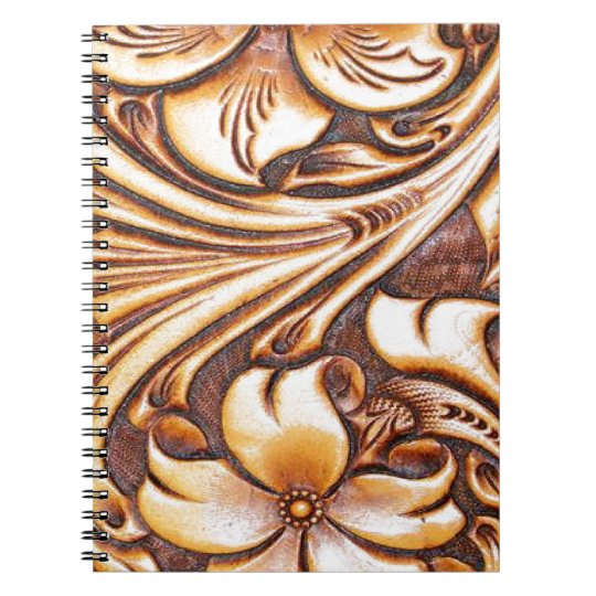 Cowboy Fashion Western Country Tooled Leather Notebook