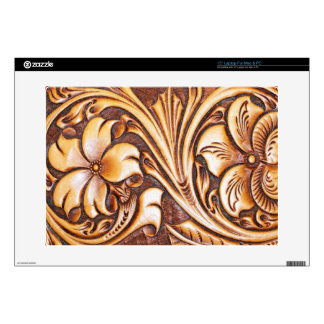 """Cowboy Fashion Western Country Tooled Leather Skins For 15"""" Laptops"""