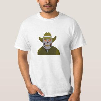 cowboy fiery skull  anime image t-shirt