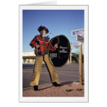 Cowboy figure sign welcoming tourists to Scottsdal Greeting Cards