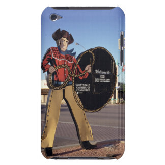 Cowboy figure sign welcoming tourists to Scottsdal iPod Case-Mate Case