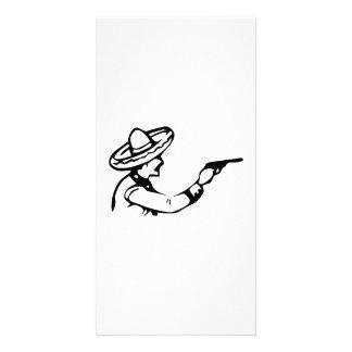 Cowboy Firing Gun Personalized Photo Card