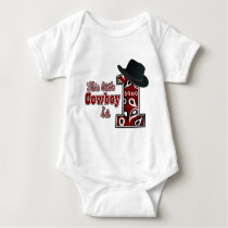 Cowboy First Birthday Baby Bodysuit