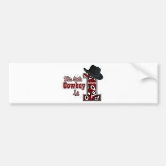 Cowboy First Birthday Bumper Sticker