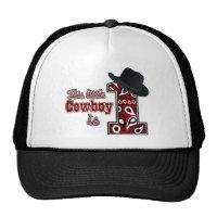 Cowboy First Birthday Mesh Hat