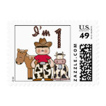 Cowboy First Birthday Postage Postage