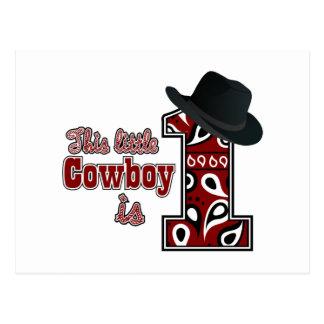 Cowboy First Birthday Postcard