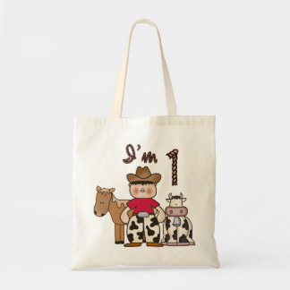 Cowboy First Birthday Tote Bag