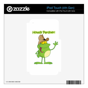 Cowboy Frog Waving Howdy iPod Touch 4G Decal