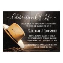 Cowboy Funeral Memorial Service Invitation