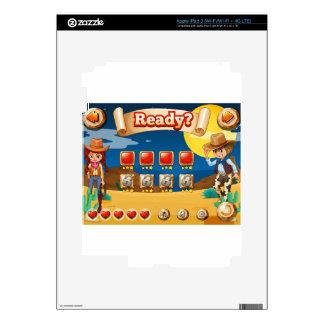 Cowboy game iPad 3 decals