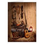 Cowboy Gear Greeting Card