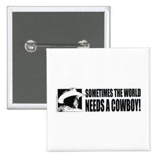 Cowboy George W Bush Button