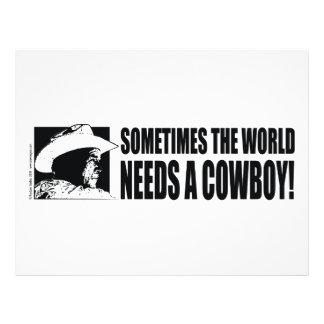 Cowboy George W Bush Flyer Design