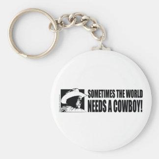 Cowboy George W Bush Keychain