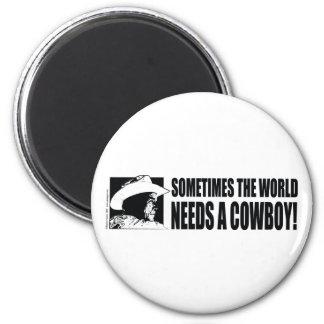 Cowboy George W Bush 2 Inch Round Magnet