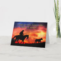 Cowboy Get Well, Feel Better Cute Card