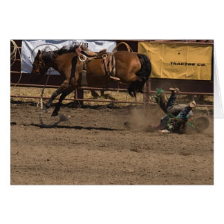 Cowboy Gets a Kick out of Bronc Riding Cards