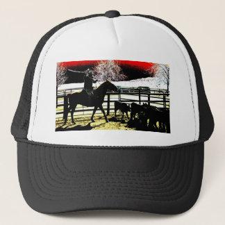 Cowboy glow trucker hat