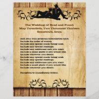Cowboy Grooms Custom Gay Wedding Programs