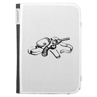 Cowboy Gun and Holster Kindle Covers