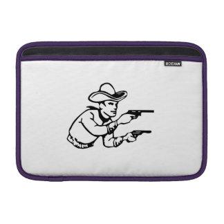 Cowboy Gunfight MacBook Air Sleeves
