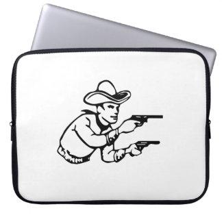 Cowboy Gunfight Computer Sleeve