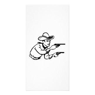 Cowboy Gunfight Photo Card