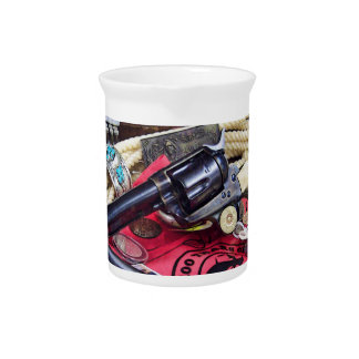 Cowboy Guns and Collectibles Beverage Pitcher