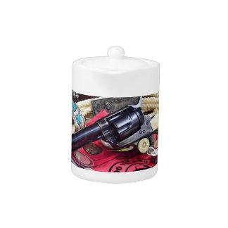 Cowboy Guns and Collectibles Teapot