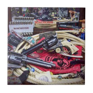 Cowboy Guns and Collectibles Tile