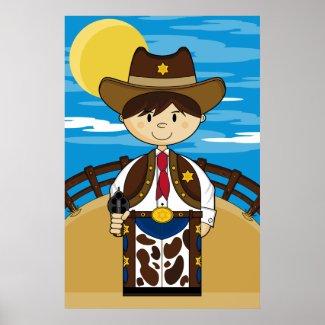 Cowboy Gunslinger Poster print