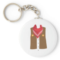 Cowboy Halloween Costume For Boys And Men Keychain