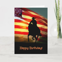 Cowboy Happy Birthday Card