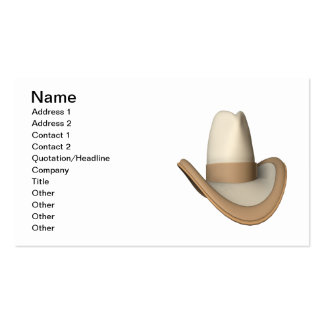 Cowboy Hat 2 Double-Sided Standard Business Cards (Pack Of 100)