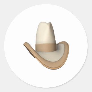 Cowboy Hat 2 Classic Round Sticker