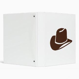 Cowboy hat 3 ring binder