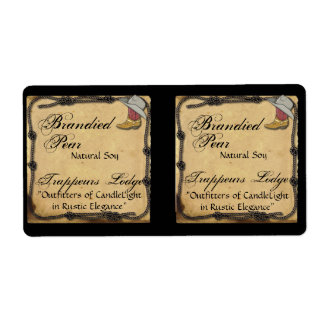 Cowboy Hat and Boot on Parchment Candle Label
