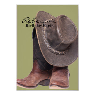 Cowboy Hat and Boots Card